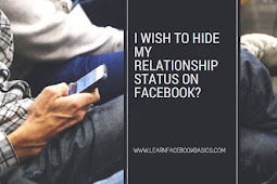 I wish to hide my Facebook relationship status?