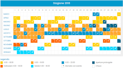 Calendario Cinecittà World 2018