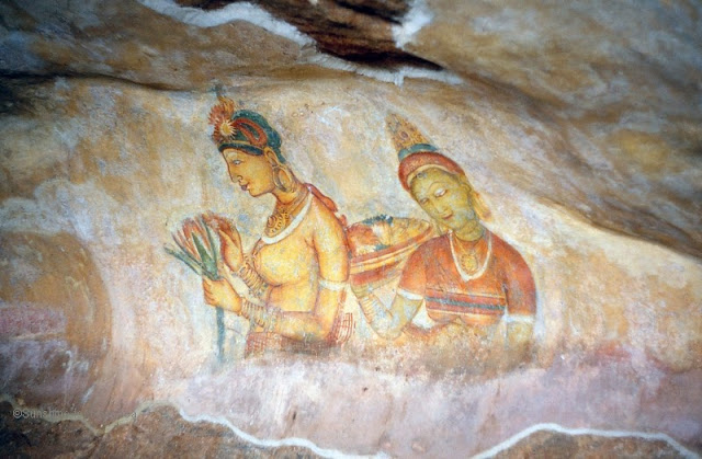 The frescoes of Sigiriya