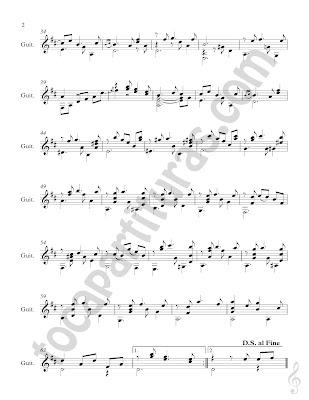 2  Partitura de Guitarra Clásica de María Luisa de Antonio Lauro Vals para guitarra