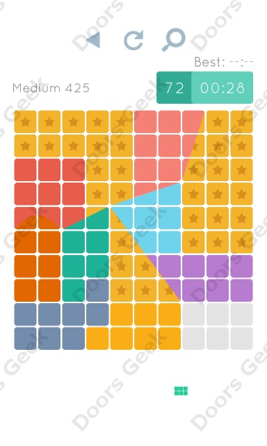 Cheats, Walkthrough for Blocks and Shapes Medium Level 425
