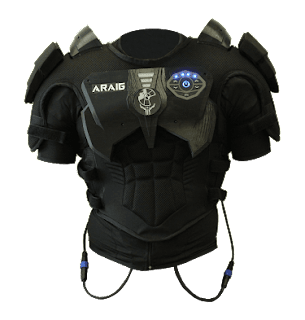 a sensory feedback suit for video games that makes you feel every hit point your player feels