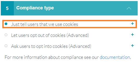 cumplimiento cookies aviso