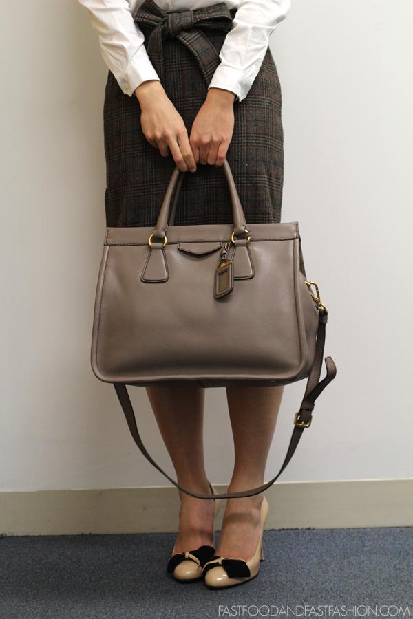 Prada Taupe Bag Prada Leather Wallet On A Chain