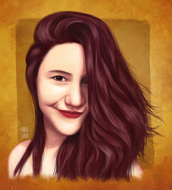 digital drawing girl portrait illustration