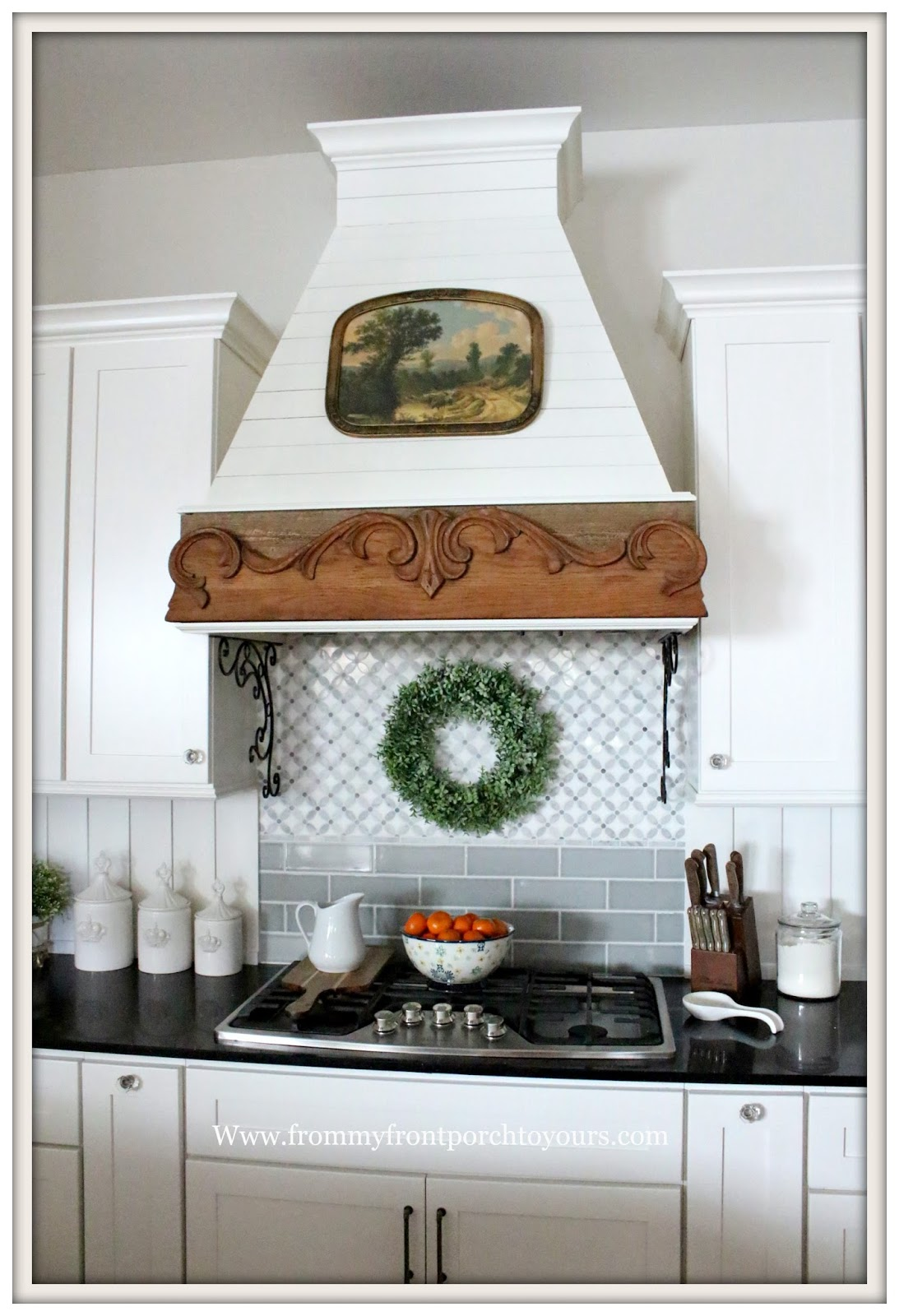 Best Kitchen Gallery: From My Front Porch To Yours Simple Winter French Country Farmhouse of Farm Style Kitchen Hoods on rachelxblog.com