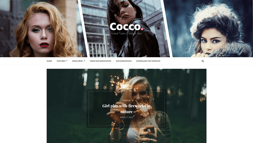 Cocco - A Responsive Stylish Blogger Template