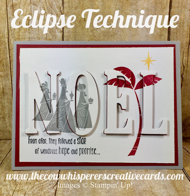 Eclipse Technique, Wise Men from Afar, Big on Birthdays, Facebook Live, Stampin Up, Card