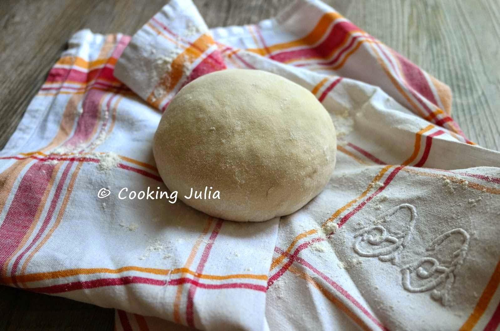Cooking Julia Pate A Pizza Fine Sans Temps De Levee