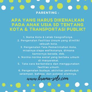pengetahuan tentang transportasi publik untuk anak sekolah dasar