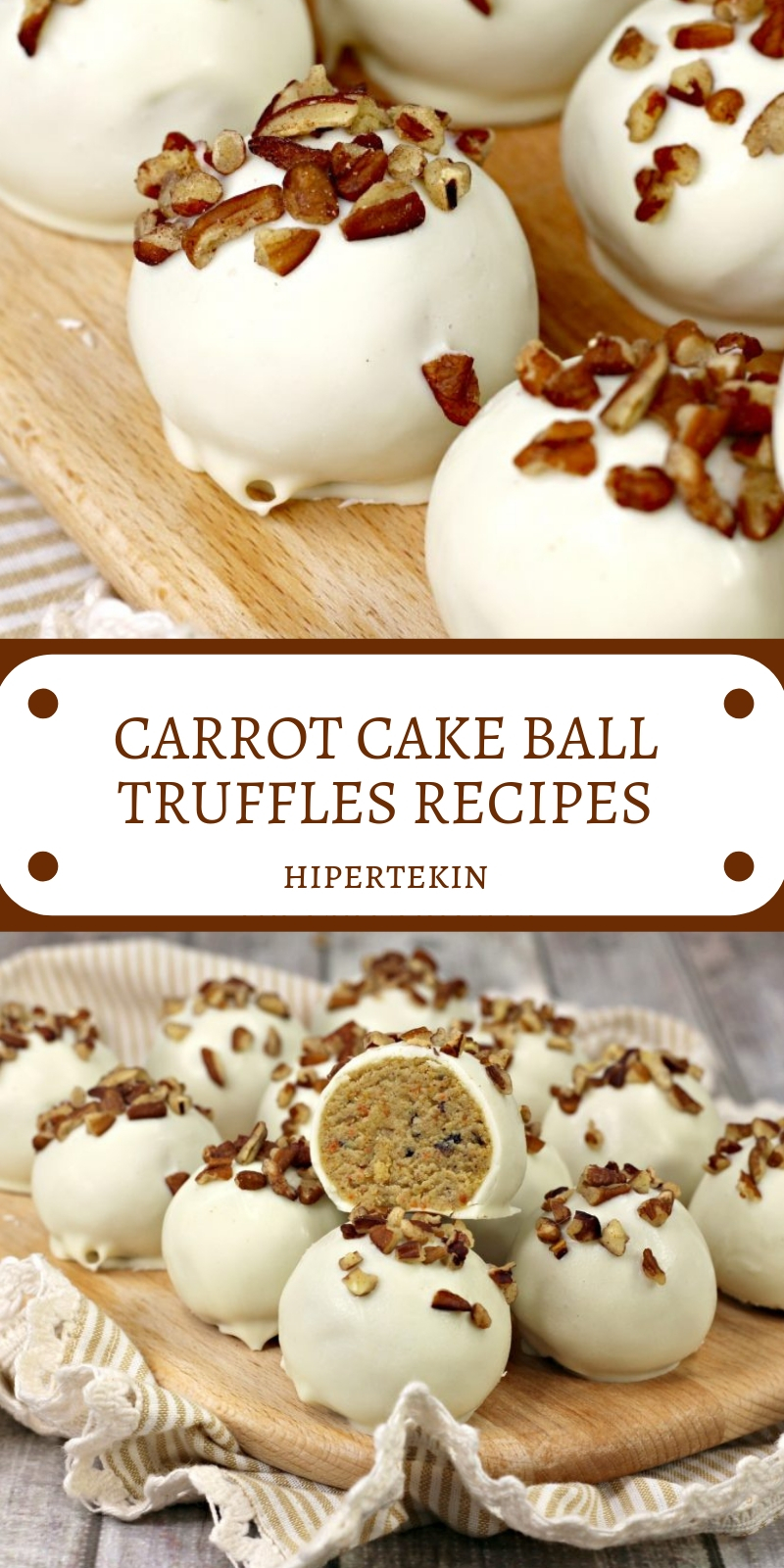 CARROT CAKE BALL TRUFFLES RECIPES