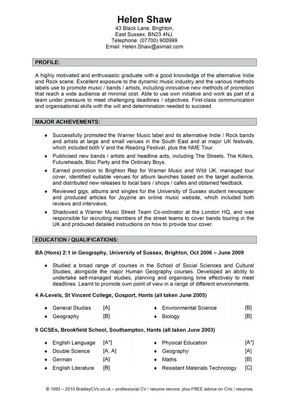 Samples Of Great Resumes 2019