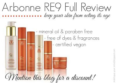 Arbonne RE9 Full Review || Mention this post for 10% off!
