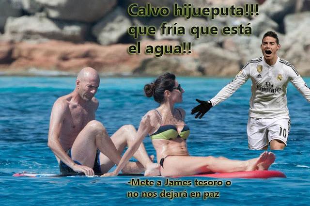 Zidane recibe una visita inesperada en Ibiza