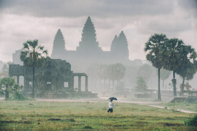 Angkor Wat in rainy season