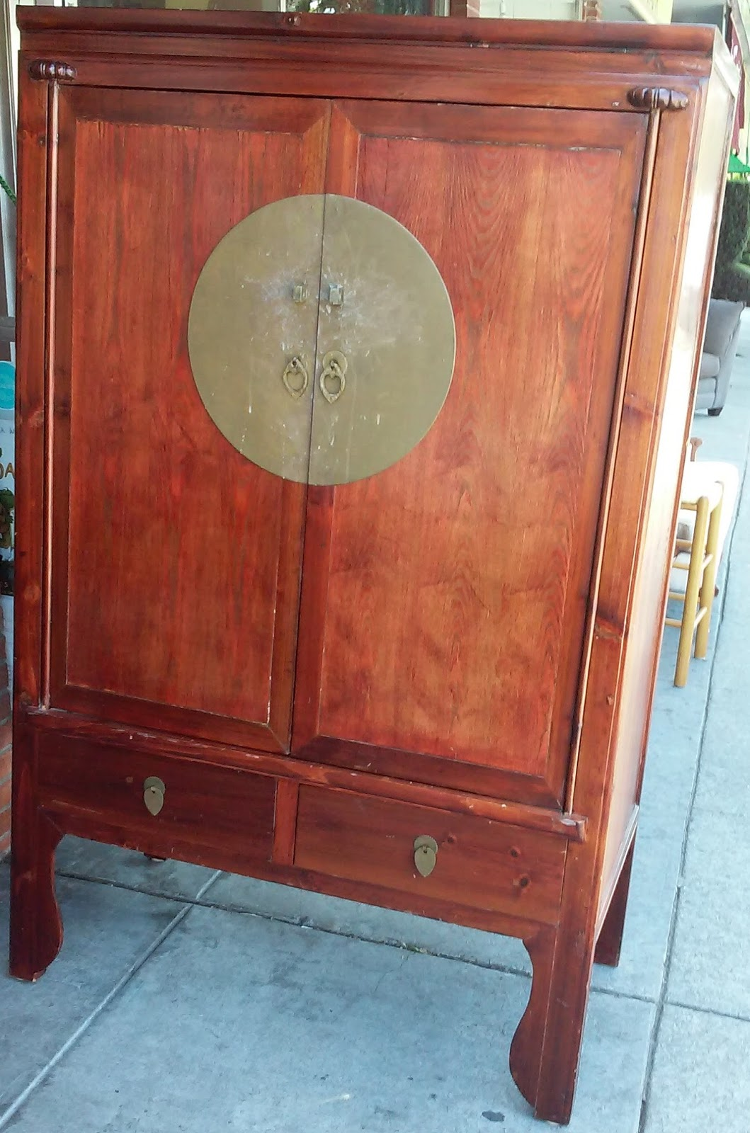 Amazing photo of UHURU FURNITURE & COLLECTIBLES: SOLD Asian TV Armoire $95 with #9A4431 color and 1059x1600 pixels