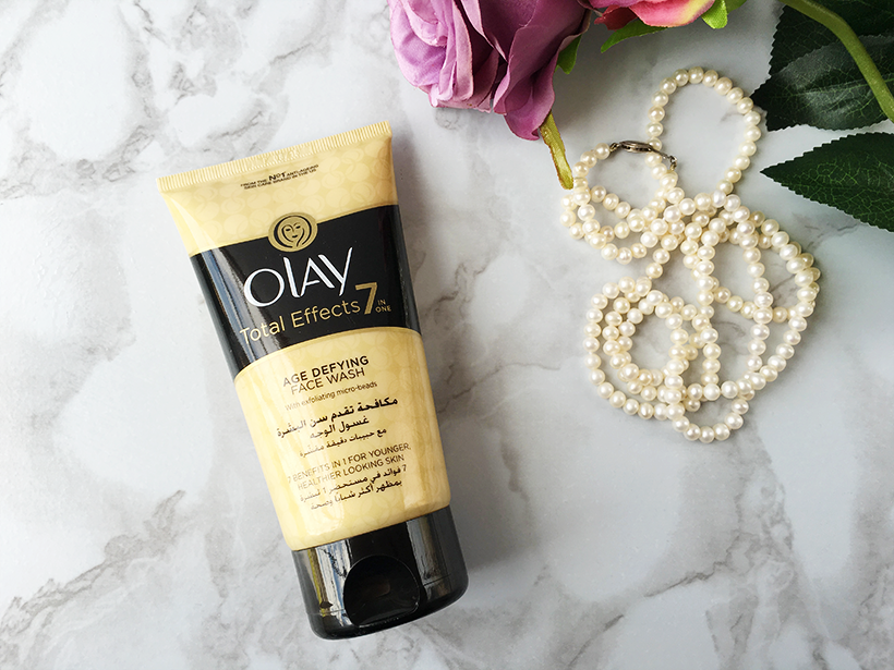 Olay, total, effects, age, defying, face wash