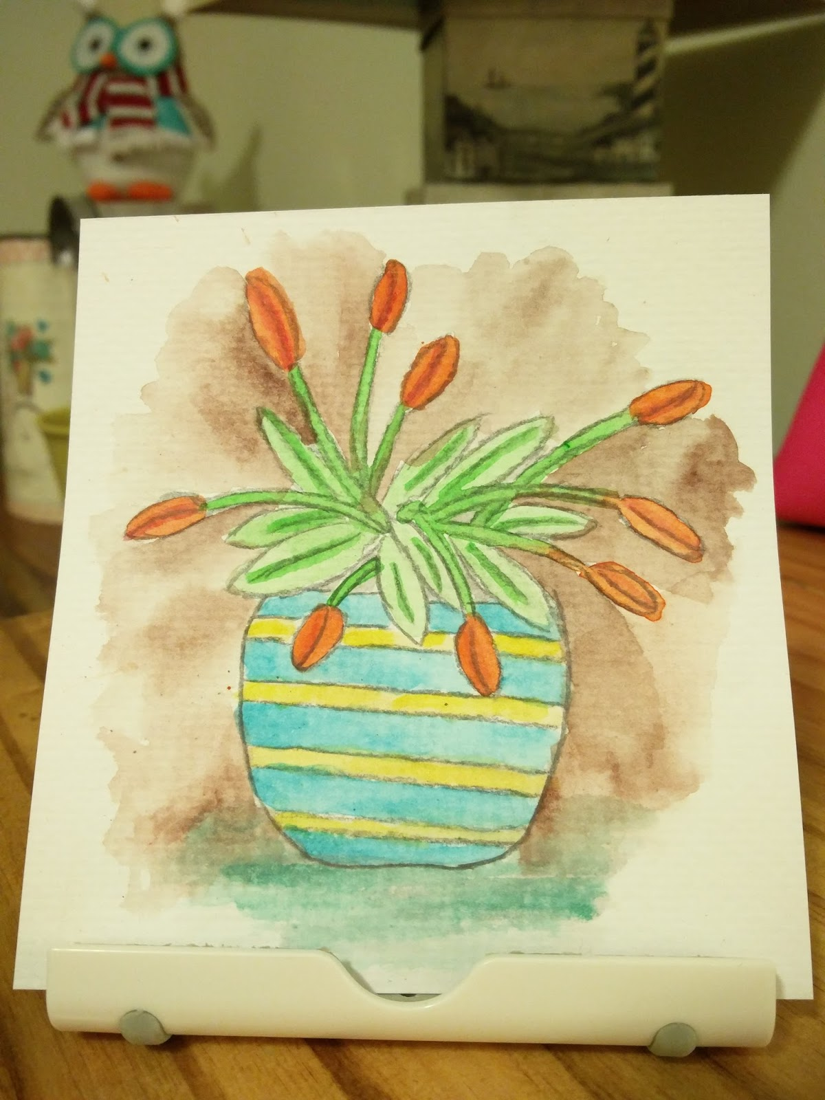 I art journal my first real watercolor painting for My first watercolor painting