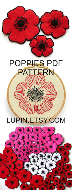 Poppy PDF Sewing Tutorial & Embroidery Pattern by Laura Lupin Howard