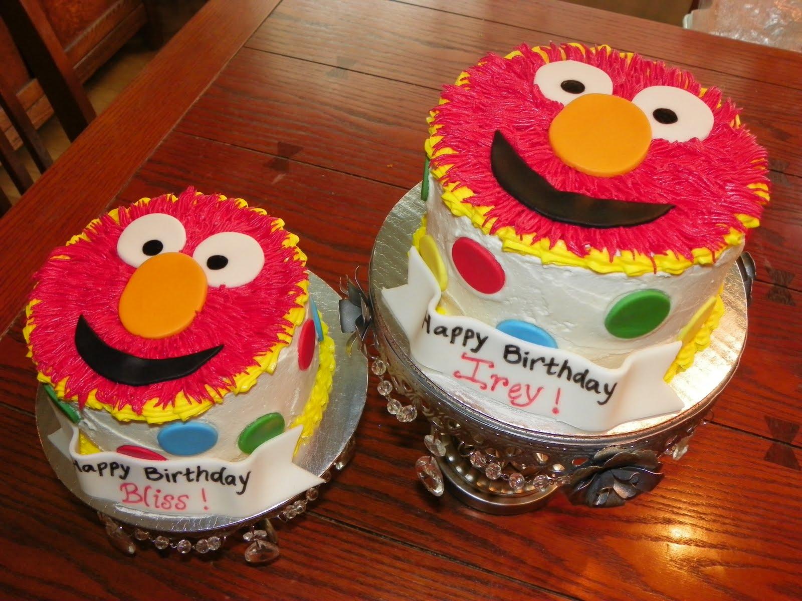 Plumeria Cake Studio Twin Elmo Birthday Cakes