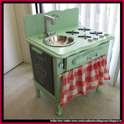 Turn An Old Dresser Into A Play Kitchen