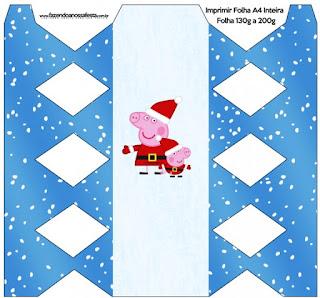 Cajas de Peppa Pig en Navidad para imprimir gratis.