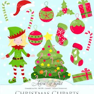 Christmas Decoration Clipart Scrapb
