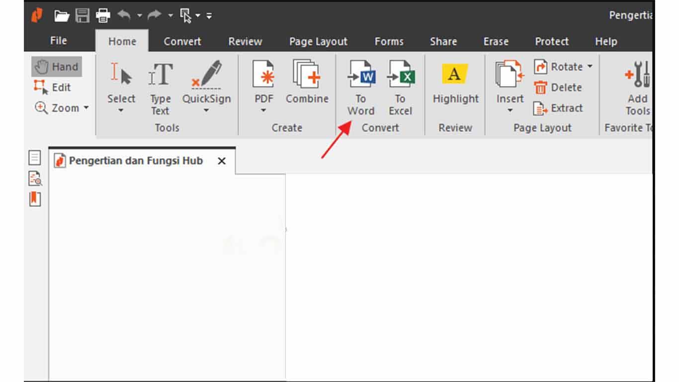 Cara mengubah PDF ke Word dengan Nitro PDF