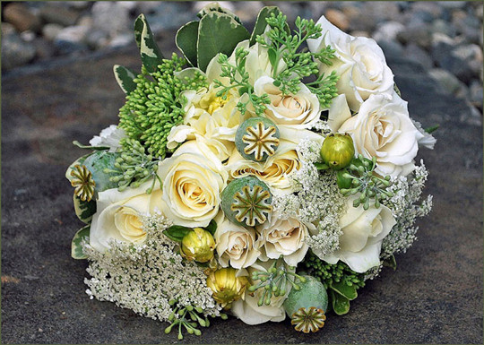 Outstanding spring white rose Wedding Flowers And Bridal bouquet