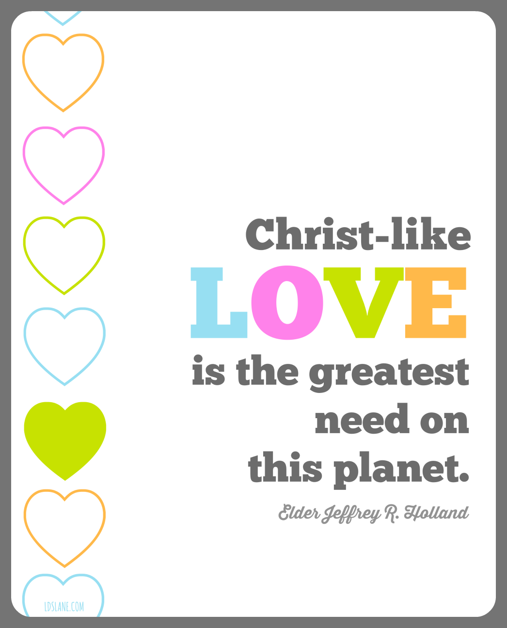 Christ-like Love LDS Quote