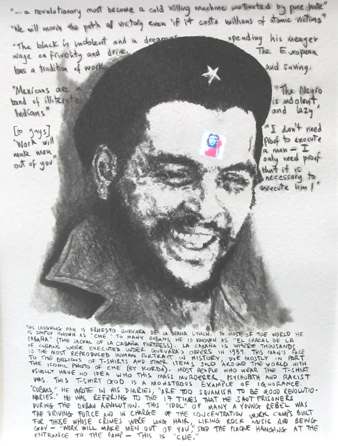 THIS IS CHE GUEVARA - an original drawing with embedded electronics by F LENNOX CAMPELLO - 2013