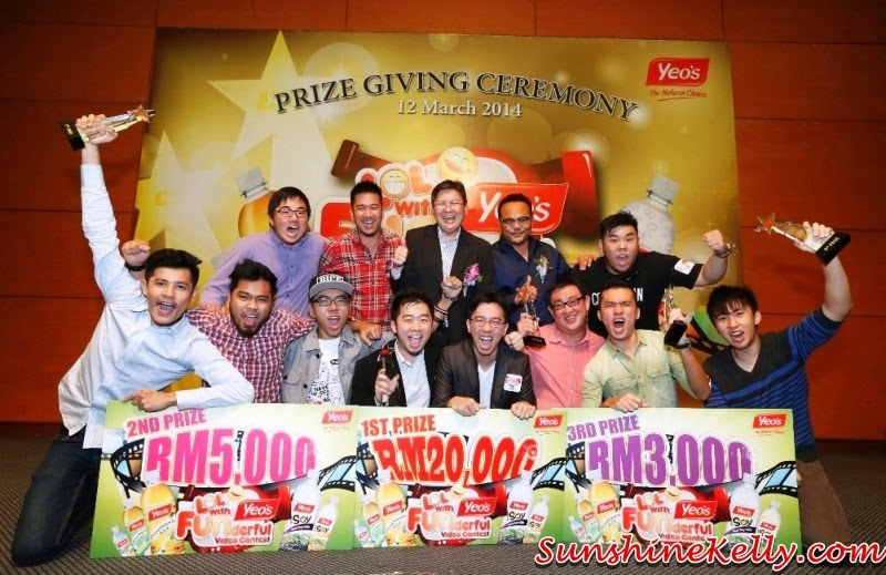Yeo's Funderful Video Contest Winners, Yeo's Malaysia, Yeo's, funderful video contest, fun video, yeo's contest winners, top 5 video awards