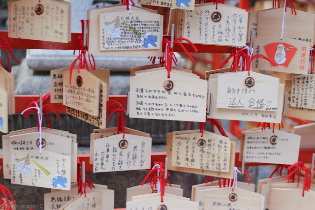 Japanese wishes on wooden plaques (Ema), Kyoto