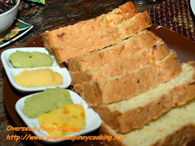 Squash Bread with Honey, Malungay, Pesto and Mango Spreads