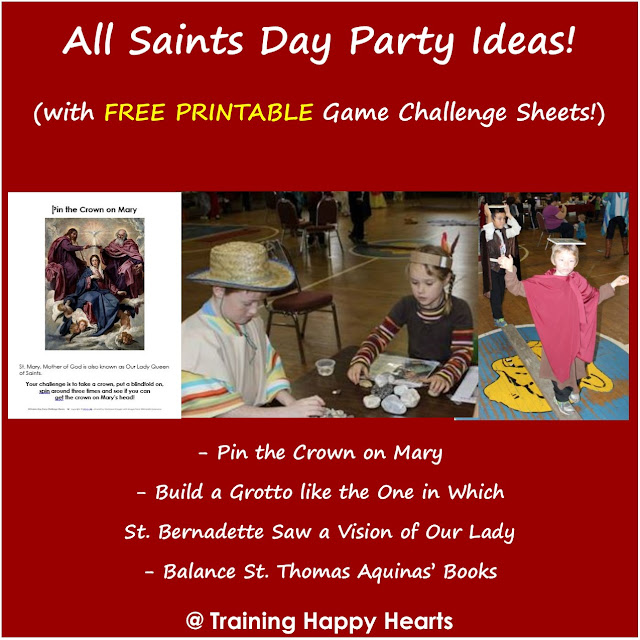 http://traininghappyhearts.blogspot.com/2015/10/all-saints-day-game-challenges-one.html