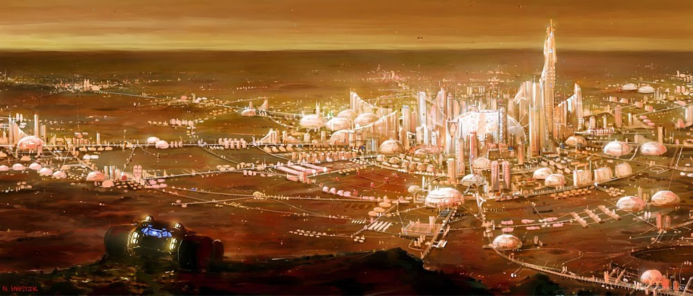 Capital city of Mars by Nick Hvostik (Massive Black)