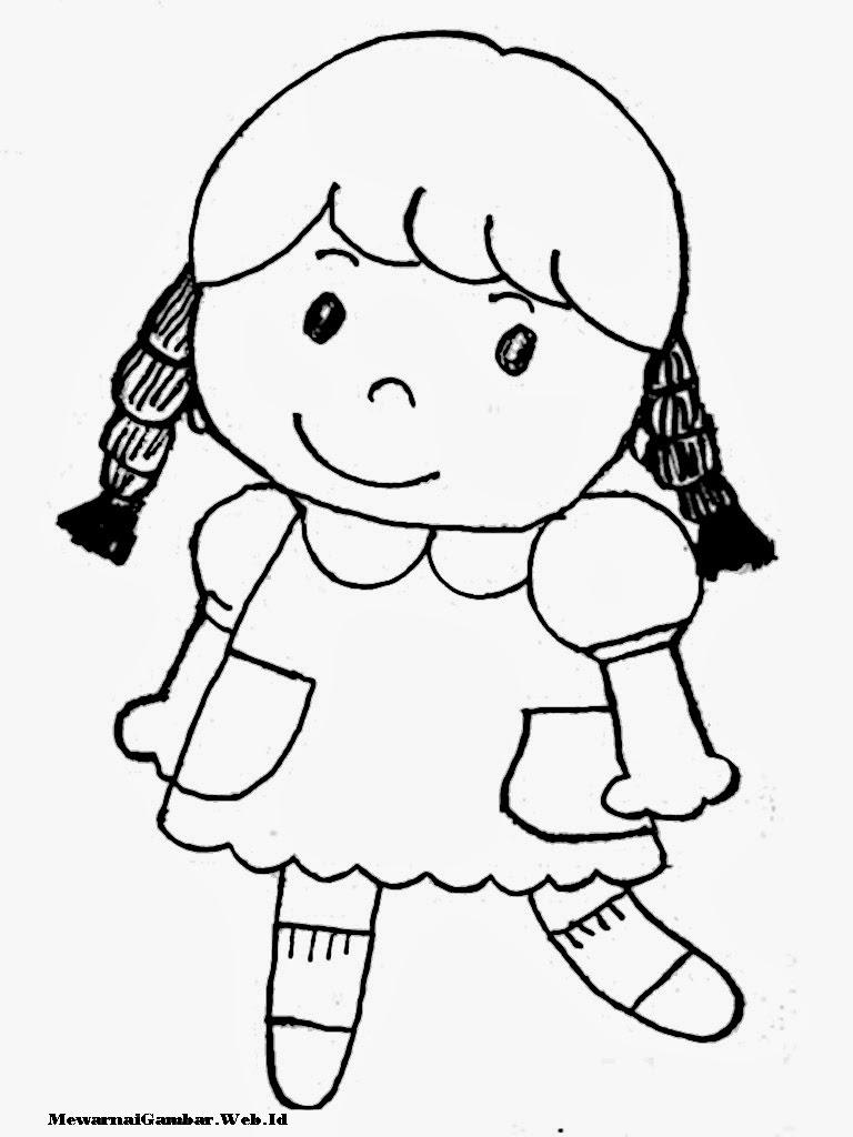 Mewarnai Mewarnai Gambar Anak Perempuan Mewarnai Gambar