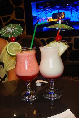 Strawberry Daiquiri e Spireman - coquetéis sem álcool da MSC Cruzeiros