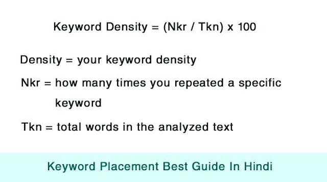 keyword density kya hai, keyword density ke bare me puri jankari hindi me