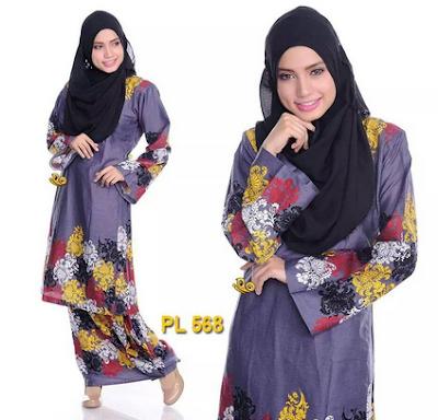 Trend baju batik kurung remaja muslim casual hijab