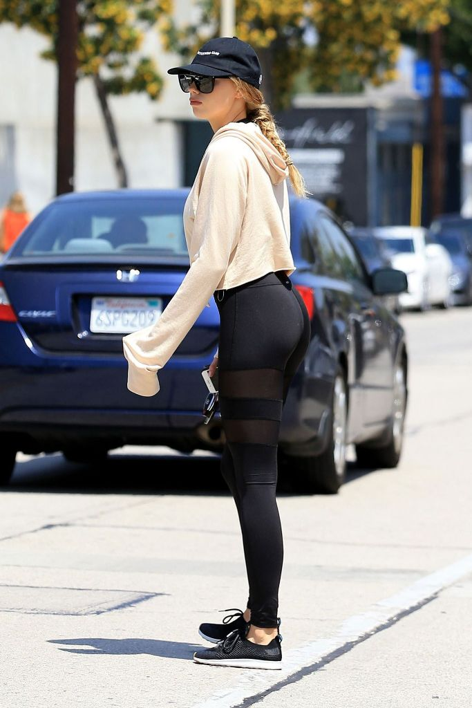 Charlotte McKinney in Spandex at West Hollywood
