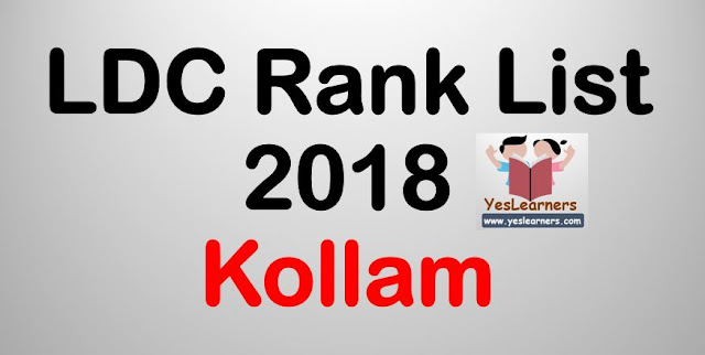 LDC Rank List 2018 - Kollam