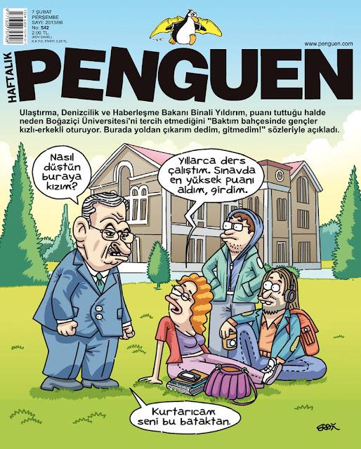 penguen 7 şubat 2013 kapak