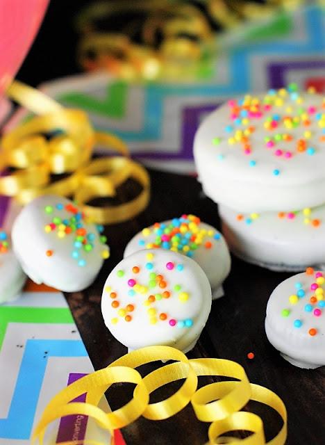 White Chocolate Birthday Cake Mini Oreos Image