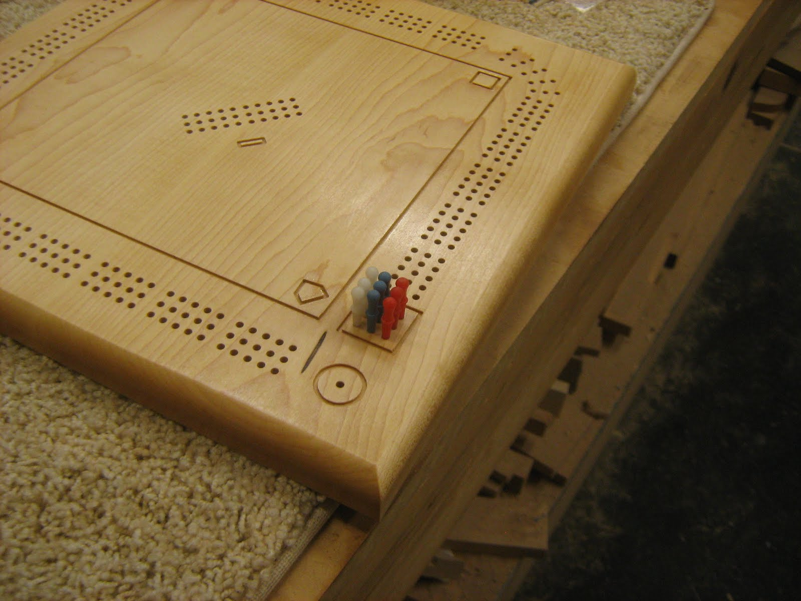 Splinters Woodworks Custom Baseball Field Shape Cribbage