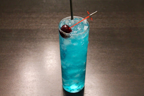 The Lightsaber cocktail with mezcal
