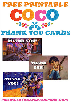 free printable coco thank you cards