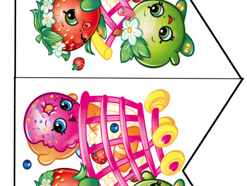 Shopkins banner. Free birthday party printables