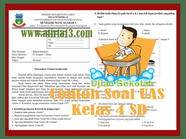 Contoh Soal UAS Kelas 4 SD Format Words
