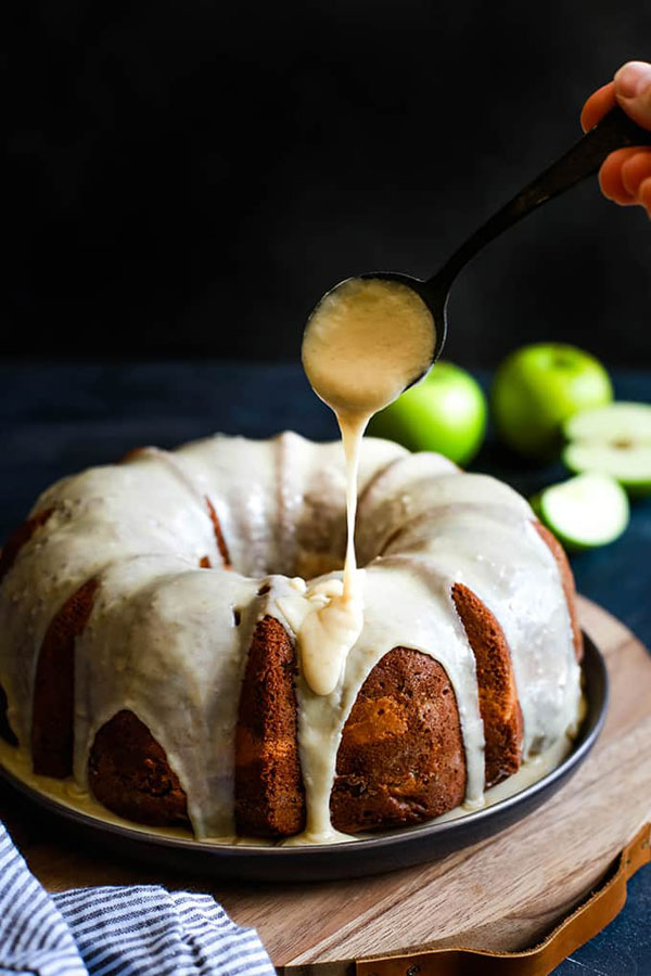 Apple Cream Cheese Bundt Cake - Apple Cake Recipes with Fresh Apples